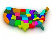 stock photo of usa map  - Map of USA - JPG