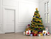 Christmas Tree In Classic Room
