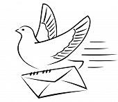 Carrier-pigeon With Letter.