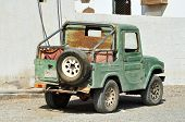 Old Vehicle In Arabic City Of United Arab Emirates