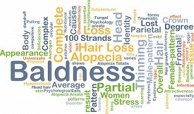 picture of male pattern baldness  - Background concept wordcloud illustration of baldness - JPG