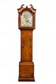 pic of pendulum  - English antique tall pendulum long case clock known as grandfather clock for halls - JPG