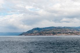 picture of messina  - docking and harbor view of Messina Sicily - JPG