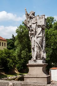 stock photo of leopold  - Baroque statue of St - JPG