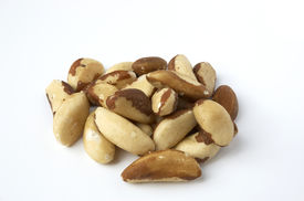 picture of brazil nut  - brazil nuts isolated on a white background - JPG