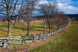 image of maryland  - autumn landscape of a portion of the Antietam Battlefield near Sharpsburg - JPG