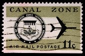 Canal Zone, Panama - Circa 1973: An 11-cent Stamp Printed In The Canal Zone, Isthmus Of Panama, Show