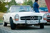 Mercedes-Benz Claccic on exhibition parking