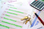 House Keys On Real Estate Marketing Portfolio