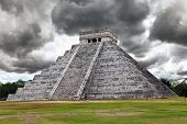 Kukulkan Pyramid in Chichen Itza on the Yucatan