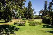 Landscaped Gardens With Flower Beds At Government House Residence In Perth City poster