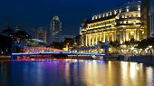 Singapore River In The Evening