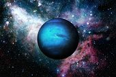 Planet Neptune. Outer Space Background. poster