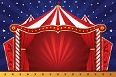 stock photo of circus tent  - A vector illustration of a circus background - JPG