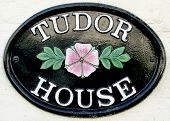 Tudor House Name Plate