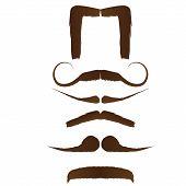 Set Of Moustache Designs