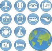 shiny vector travel icons