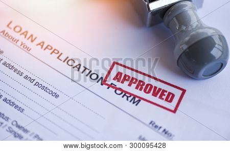 poster of Loan Approval / Financial Loan Application Form For Lender And Borrower For Help Investment Bank Est