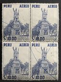Monument Of Inca Manco Capac On Postage Stamps
