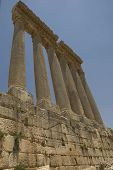 Ancient Columns, Baalbeck, Lebanon poster