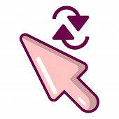 Cursor Element Icon. Cartoon Illustration Of Cursor Element Icon For Web poster