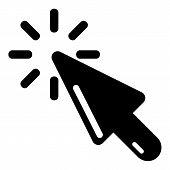 Cursor Click Icon. Simple Illustration Of Cursor Click Icon For Web poster