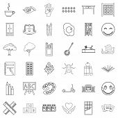 Childcare Icons Set. Outline Style Of 36 Childcare Icons For Web Isolated On White Background poster