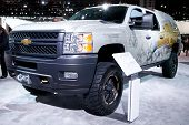 CHICAGO - FEB 12: The 2013 Chevrolet Silverado on display at the 2012 Chicago Auto Show. February 12