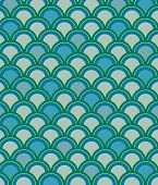 Scale Pattern In Blue