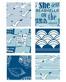 Nautical Vector Seamless Patterns . Use to create seaside themed textile projects or backgrounds.