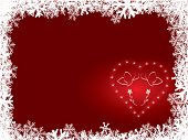 Snowflake Background With Heart