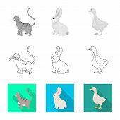 Vector Design Of Breeding And Kitchen  Symbol. Set Of Breeding And Organic  Stock Symbol For Web. poster
