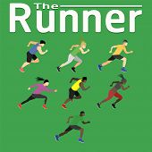 The Runner Run Ran For Health Happiness Jogging Sport Fitness Exercise Gym Jogging Men Women Shoes T poster