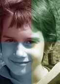 Quadrant Colors Portrait Of Child poster