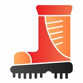 Boots Flat Icon. Working Boots Color Icons In Trendy Flat Style. Protective Footwear Gradient Style  poster