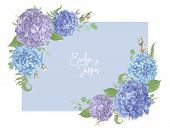 Wedding, Watercolor Seasonal Flower Card.leaves, Blooming Branches Eucalyptus, Gaultheria, Salal, Ch poster