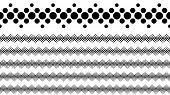 Monochrome Geometrical Dotted Pattern Divider Line Set poster