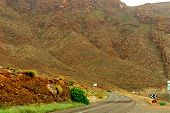 Road In Atlas Mountains In Morocco. Journey Through Morocco poster