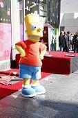 Los Angeles, ca feb 14: Bart Simpson in einer Zeremonie als matt Groening erhält einen Stern auf der Hollywo