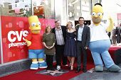 Los Angeles, ca feb 14: Bart Simpson; Nancy Cartwright; Matt Groening; Yeardley Smith; Hank azaria