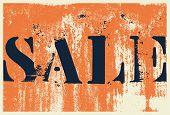 Sale Typographical Vintage Style Grunge Poster Design. Retro Vector Illustration. poster