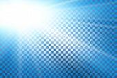 Blue Sky Sun Flare, Transparent Background. Clear Summer Nature, Sunlight Weather. Sunshine Glare Ra poster