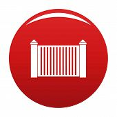 Steel Fence Icon. Simple Illustration Of Steel Fence Vector Icon For Any Design Red poster