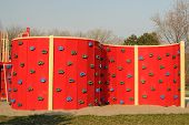 Climbing Wall On Children's Playground