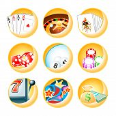 stock photo of deuce  - Vector icons for casino games - JPG
