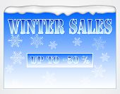 Winter Sales Board