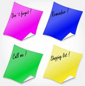 Four Colored Stickers