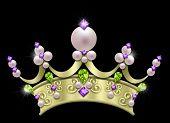 pearl & jeweled crown