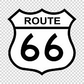 Us Route 66 Sign, Shield Sign With Route Number poster