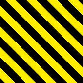 Safety Stripes. Warning Stripes. Barricade Tape. Yellow And Black Diagonal Stripes. Seamless Geometr poster
